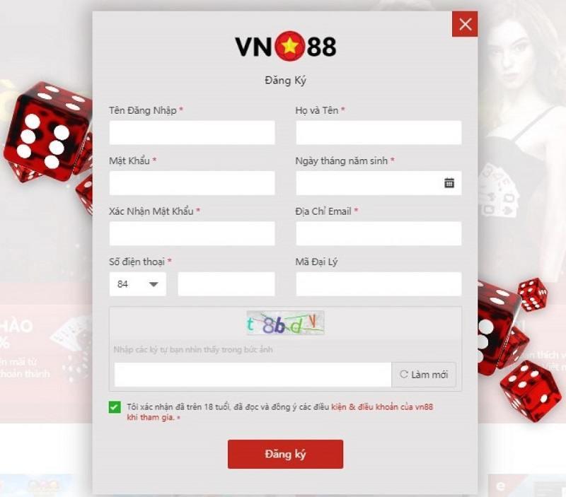 Đăng ký tài khoản tại VN88 rất đơn giản